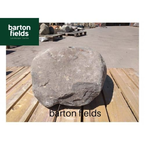 Natural Stone Pre-Drilled Boulder Water Feature in Natural Grey: 220mm