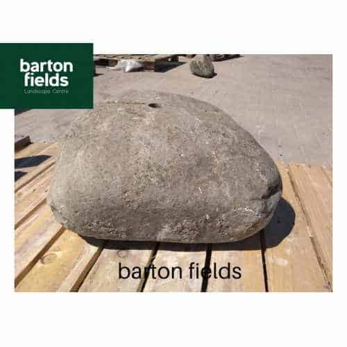 Natural Stone Pre-Drilled Boulder in Natural Grey: 230mm