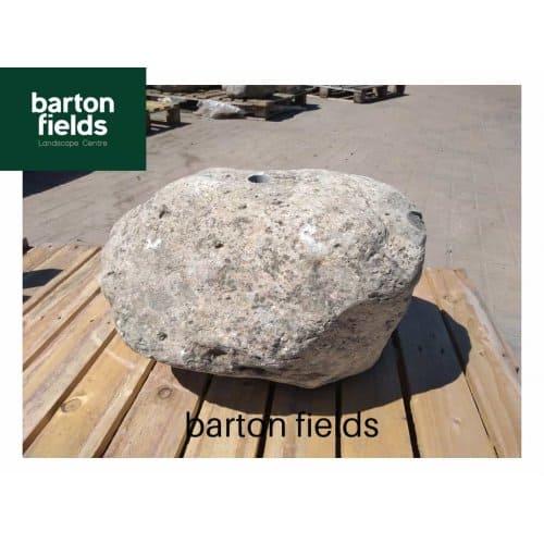 Natural Stone Pre-Drilled Boulder in Natural Grey: 300mm