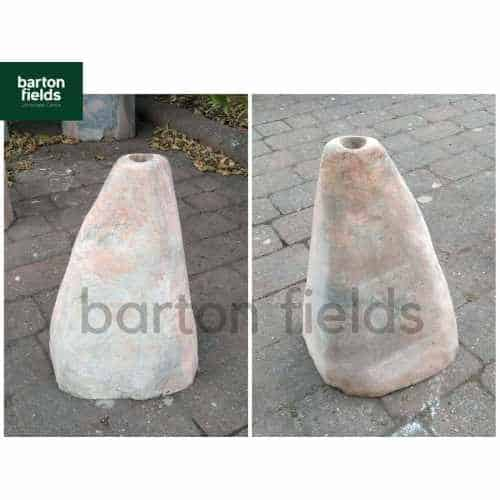 Natural Pink / Grey Marble Monolith: Pre-Drilled - 440mm