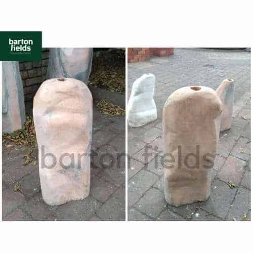 Natural Pink / Grey Marble Monolith: Pre-Drilled - 550mm