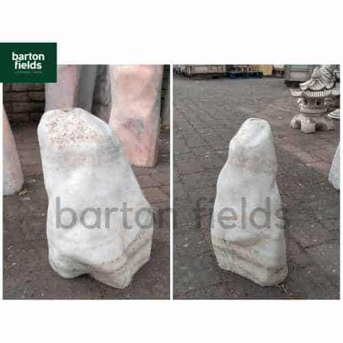 Natural White Marble Monolith: Pre-Drilled - 400mm