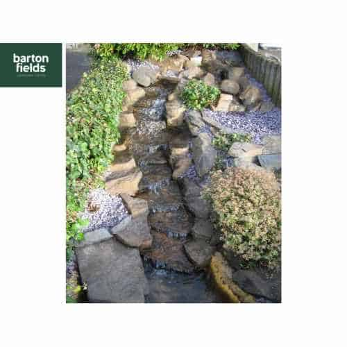 Waterfall Water Feature, The Rapids Natural Stream Pre-Formed 3 Piece Resin Feature.