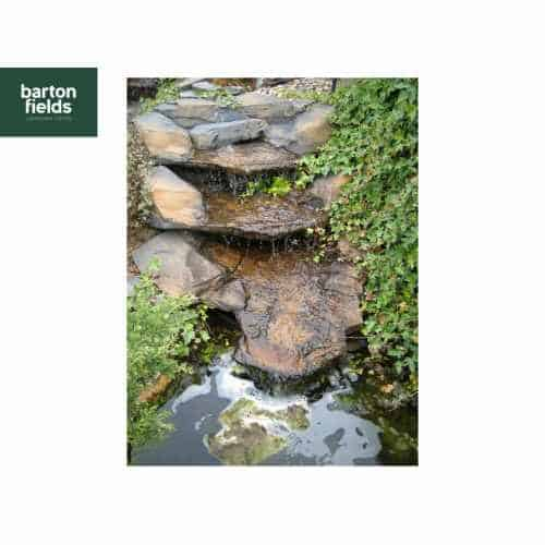 Waterfall Water Feature, The Victoria Falls Natural Stream Pre-Formed 1 Piece Resin Feature.