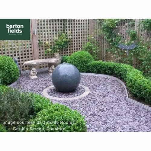 Natural Granite Pre-Drilled 60cm Dia Sphere in Graphite - Complete Water Feature Kit