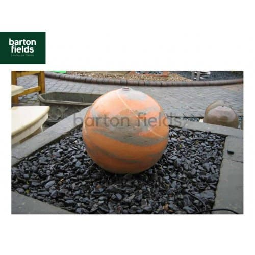 Natural Marble Pre-Drilled 50cm Dia Sphere in Sunset Colour - Complete Water Feature Kit