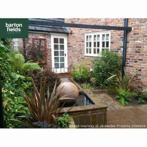 Natural Sandstone Pre-Drilled 50cm Dia Sphere in Rainbow Colour - Complete Water Feature Kit