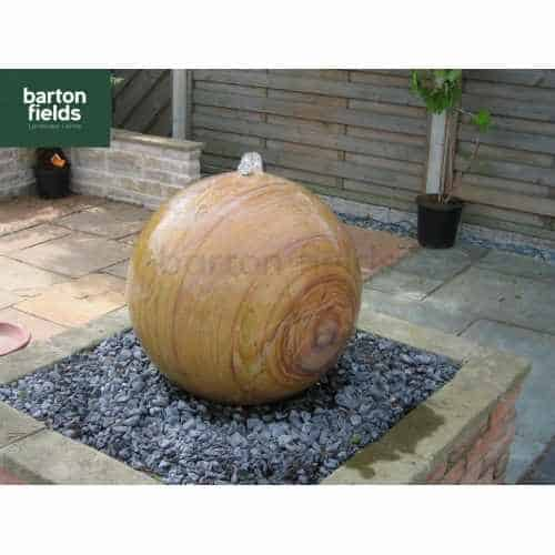 Natural Sandstone Pre-Drilled 60cm Dia Sphere in Rainbow Colour - Complete Water Feature Kit