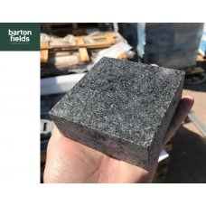 Natural Sawn Granite Cobble  Setts, Emperor Black - 10cm x 10cm x 4cm