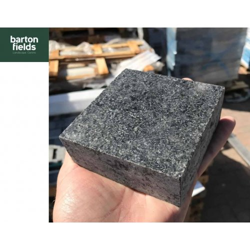 Natural Sawn Granite Cobble  Setts, Emperor Black - 10cm x 10cm x 4cm