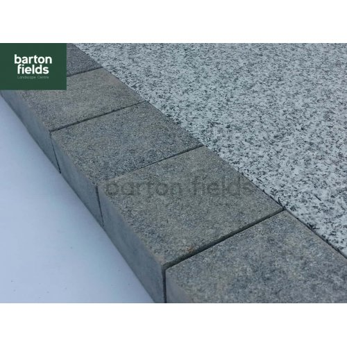 Natural Granite Sawn Cobble Setts, Graphite - 10cm x 10cm x 5cm