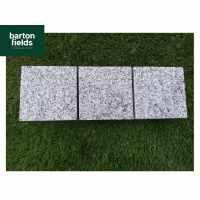 Natural Granite Sawn Cobble Setts in Silver - 10cm x 10cm x 5cm