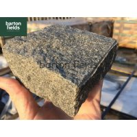 Natural Granite Split Cobble Setts, Graphite Grey - 10cm x 10cm