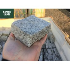 Natural Granite Split Cobble Setts, Silver - 10cm x 10cm x 5cm