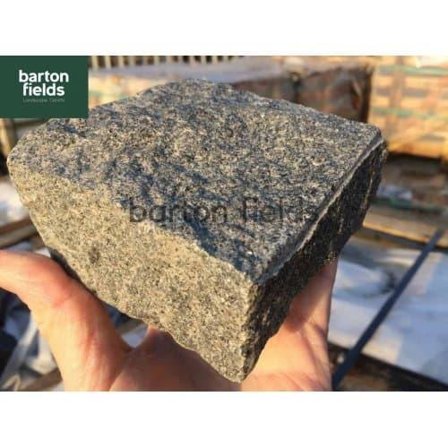 Natural Granite Split Setts in Graphite Grey - 10cm x 10cm