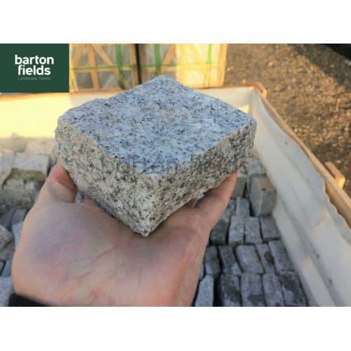 Natural Granite Split Setts in Silver - 10cm x 10cm x 5cm