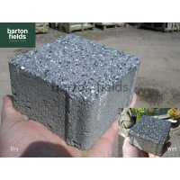 Granite Effect Shot Blast Cobbles,  Dark Grey - 10cm x 10cm