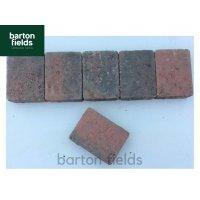 Tumbled Block Paving Cobble Setts, Brindle - 10.5cm x 14cm
