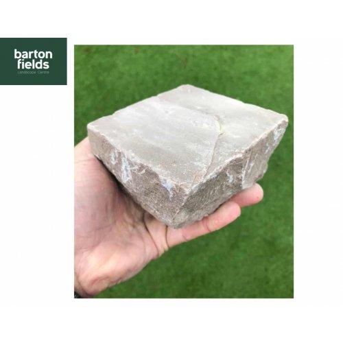 Natural Sandstone Cobbles, Forest  Blend - 10cm x 10cm