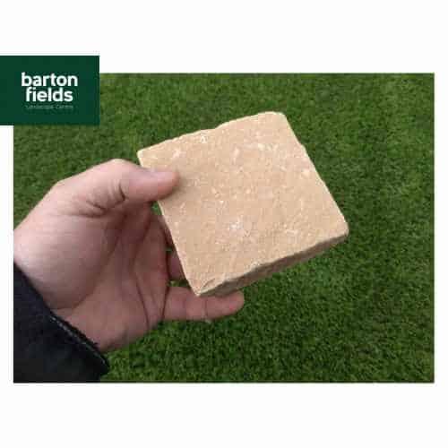 Natural Sandstone Cobbles in Harvest Colour - 10cm x 10cm