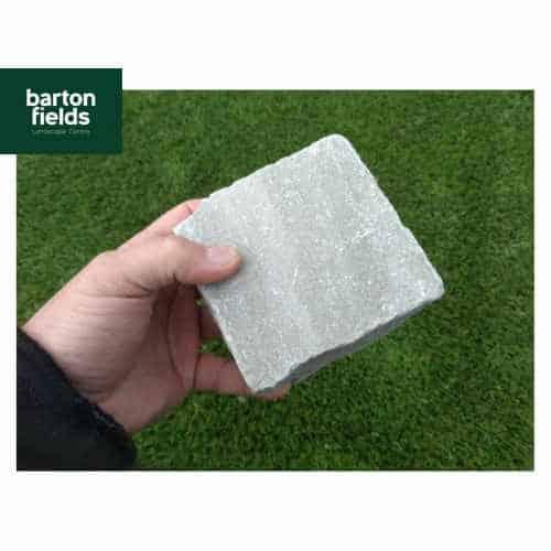 Natural Sandstone Cobbles in Silver Mist Colour - 10cm x 10cm