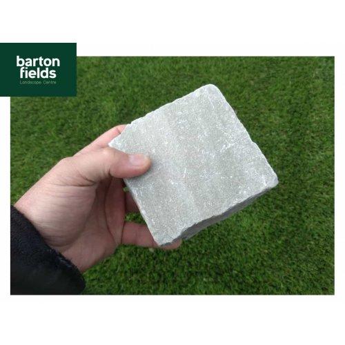 Natural Sandstone Cobbles, Silver Mist- 10cm x 10cm